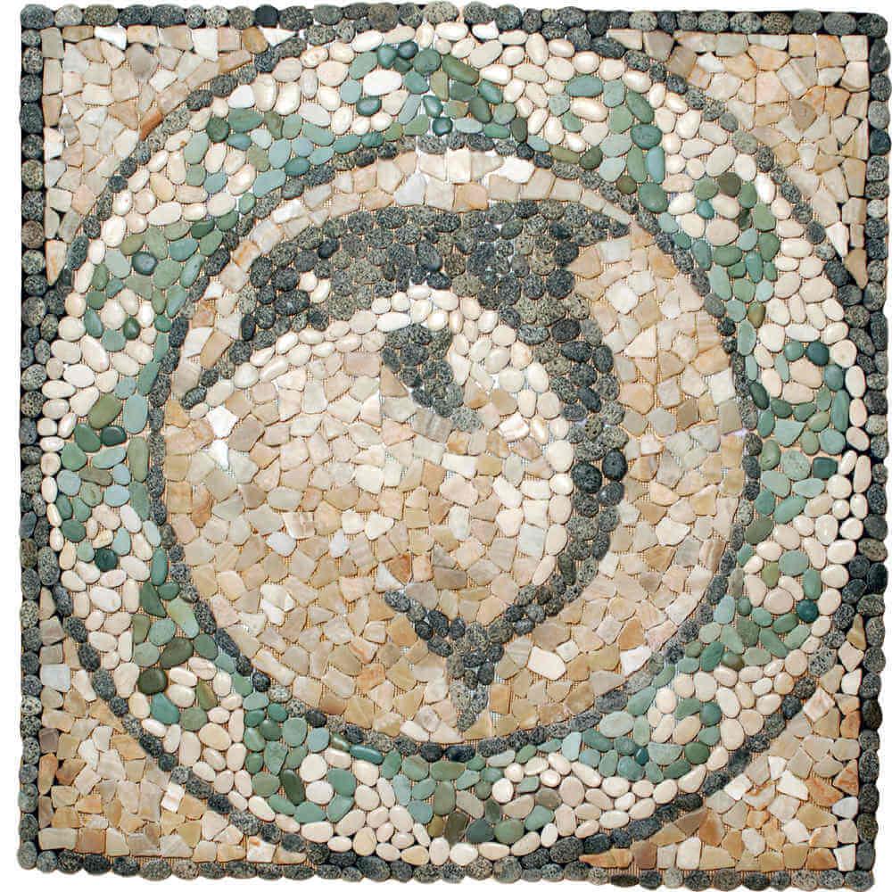 Stone-Mosaics-Medallion-Dolphin