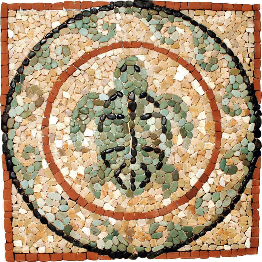 Stone-Mosaics-Medallion-Turtle