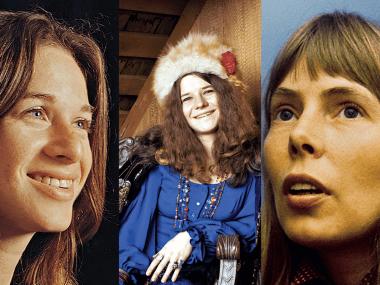 Carole King, Janis Joplin, Joni Mitchell