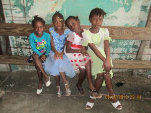 A few of the students in Cite Soleil