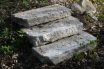 Reclaimed Granite Curbing Used as Steps