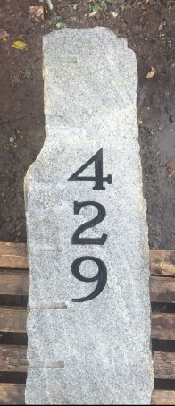Custom Engraving on Granite Post