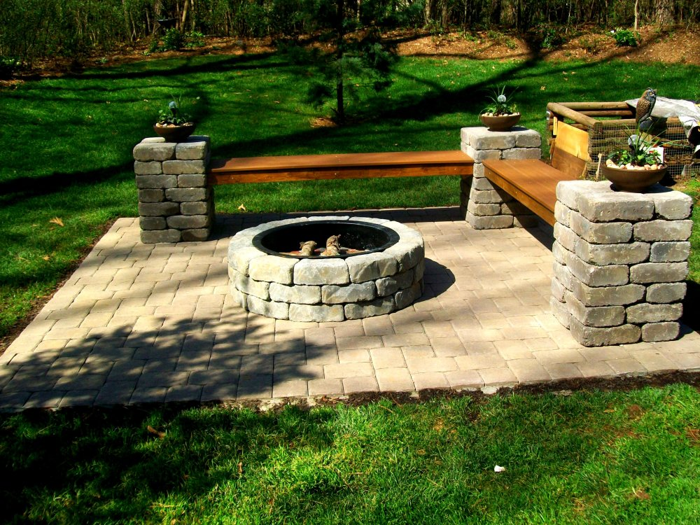 Outdoor Fire Pit | Charlotte Pavers and Stone on Pavers Patio With Fire Pit id=95223