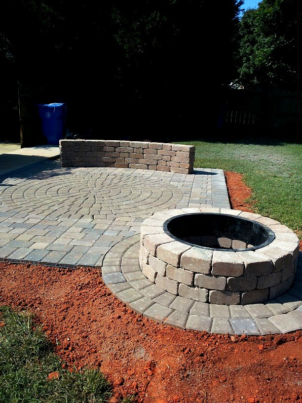 Outdoor Fire Pit | Charlotte Pavers and Stone on Paver Patio Designs With Fire Pit id=33076