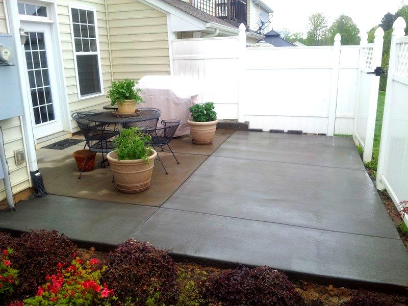 simple concrete patio - Charlotte Pavers & Stone on Simple Concrete Patio Designs id=28873