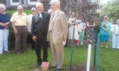 Dedication of tree in honor of Dennis Dewey's retirement-6.14.2015