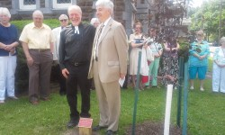 Dedication of tree in honor of Dennis Dewey's retirement-6.14.2015