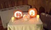 Pumpkins carved by John & Chris Menard