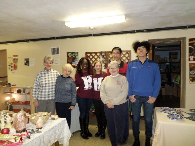 Linda, Bev, Ceil & Hamilton College students - Cleaning Day 1/23