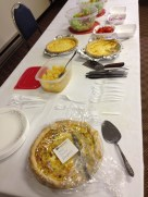 Quiche for Red Cross blood drive volunteers