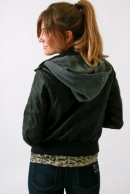 Bomber with Hoodie