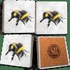 Bee Marble Coaster Set
