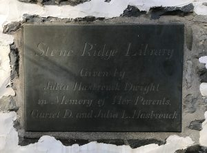 Stone Ridge Library, Dedication Plaque