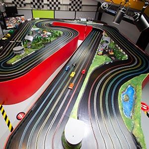 Pro Drivers Scalextric 5 lane track