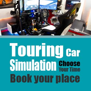 Touring Car simulation sessions book now.
