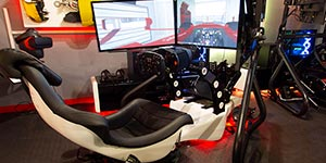 Formula One race seat virtual realty simulation
