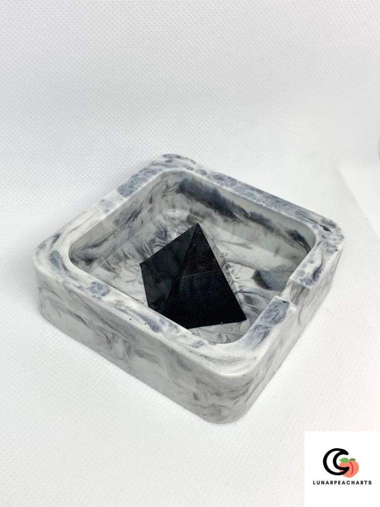 Handmade marble custom ashtray