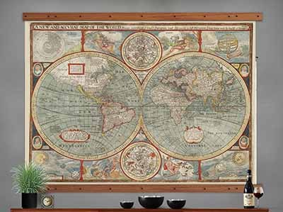 wall map tapestry