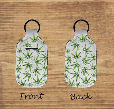 pot leaf lighter keychain