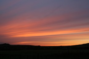 Sunset at Stones Cottages