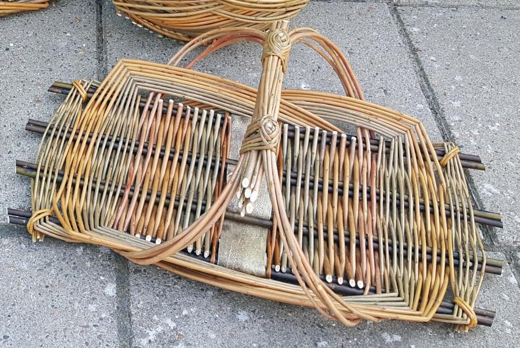 Flat trug style basket.