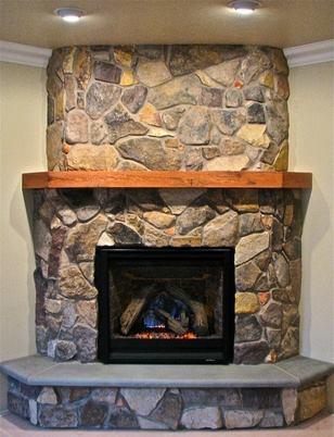 Stone Veneer Fireplaces, Walls, Stone Hearths