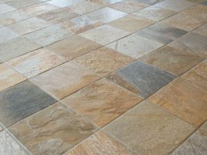 Desert Gold Quartzite Tile Flooring