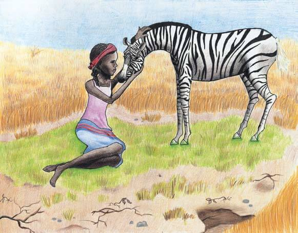 Zitza a girl and a zebra