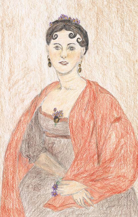 My Story, a Fictional Account portrait of a lady