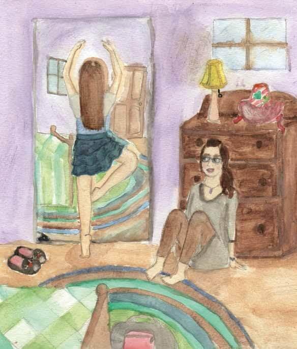 Dream of Dancing girl practicing ballet