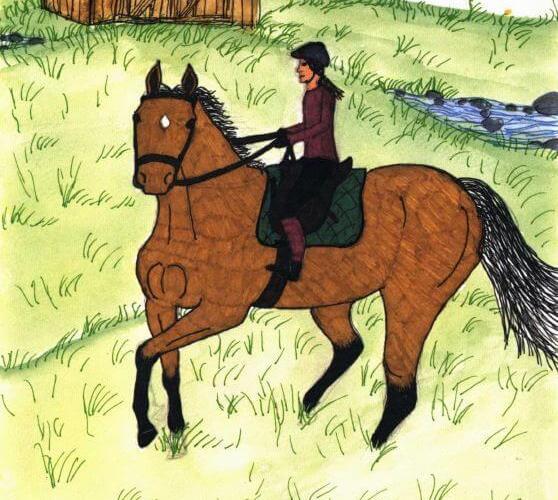 Cherish Road riding a horse