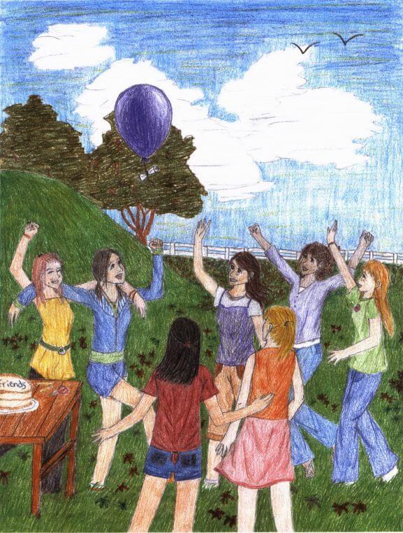 The Balloon flying a balloon