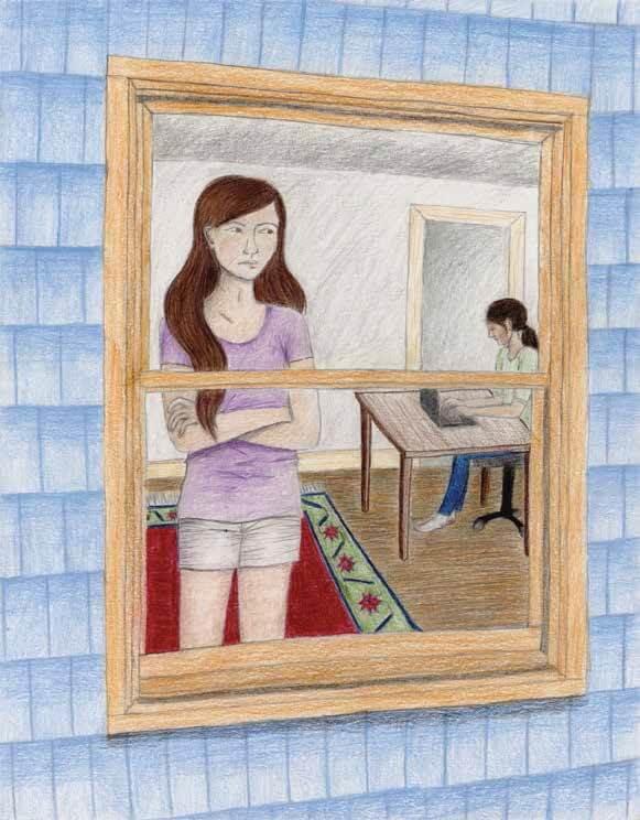 The Girl Next Door talking to mom