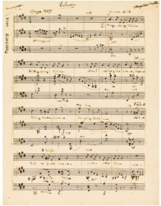 Manuscript of Lilian by Benjamin Britten, 1929, young composer.