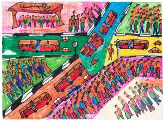 The Street, by Arfat Mousani Abd Al Azziz, age 13, Egypt