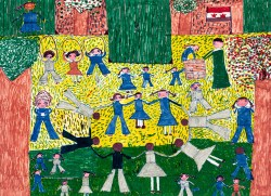 Playing at School, by Souad Ramadan Mouhamad, age 13, Egypt