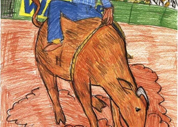 the 54th rider rodeo bull riding