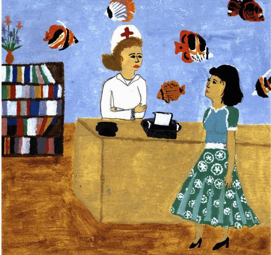 A Shaken Garden talking to a nurse