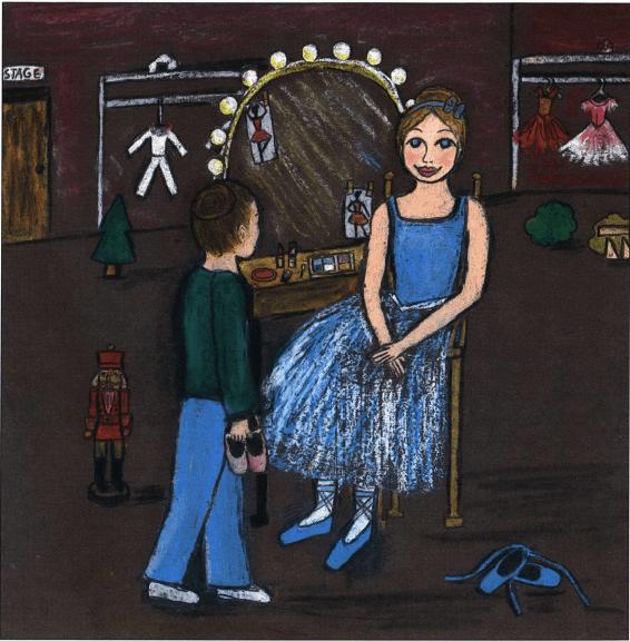 Nutcracker Dreams talking to a ballerina