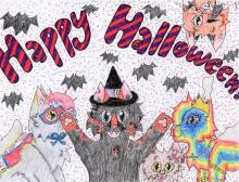 """""""Halloween Cats"""" by Sage Young, 13"""
