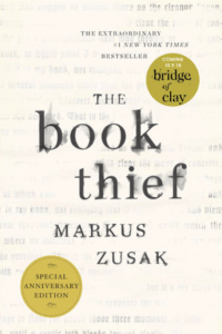 Book cover of The Book Thief by Markus Zusak