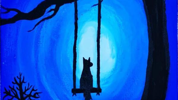 Wolf on a Swing