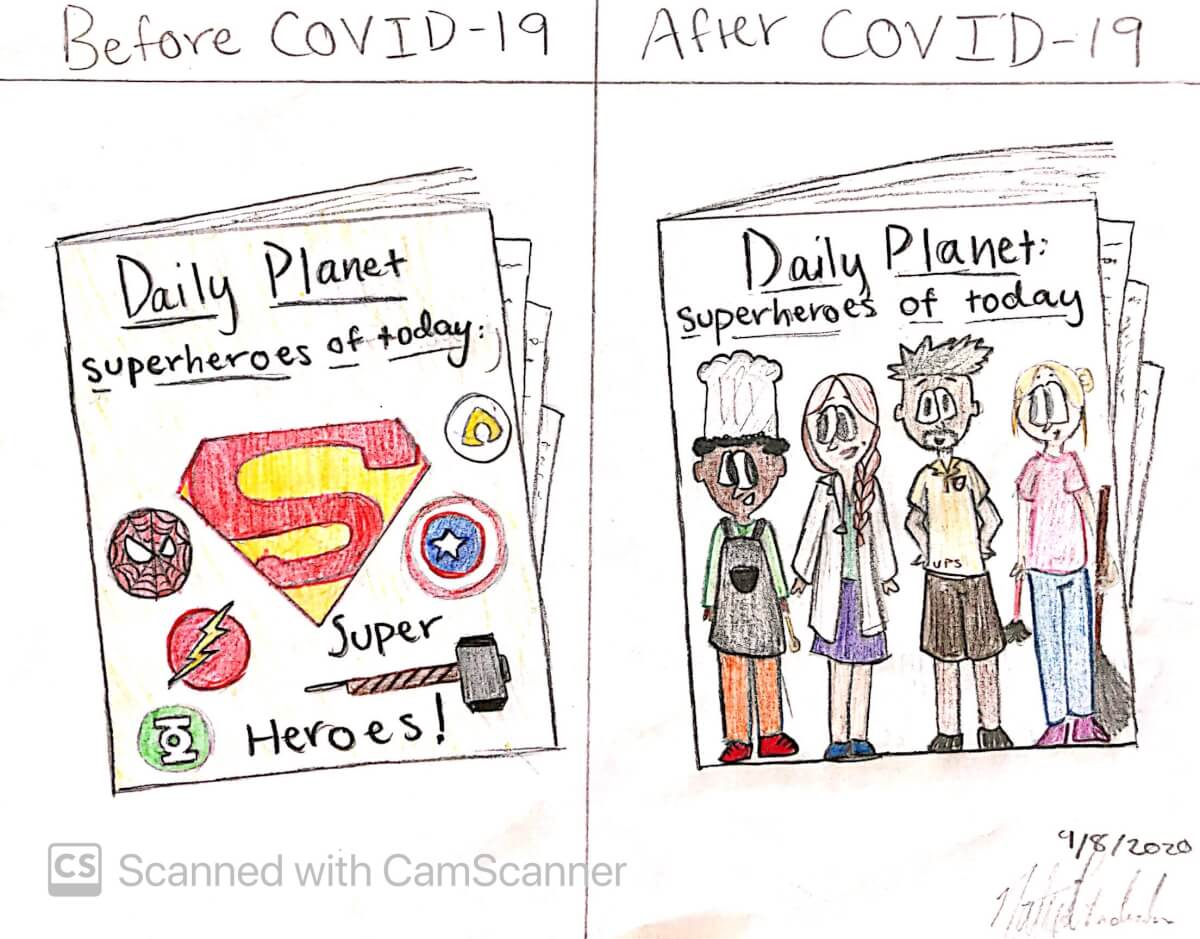 Superheroes of Today, a cartoon by Natya Chandrasekar, 12