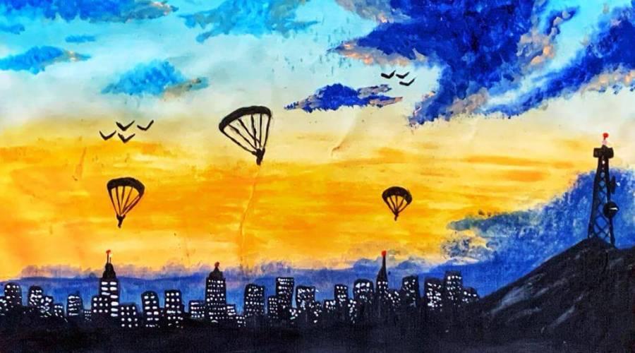 ParachutinginCityLights