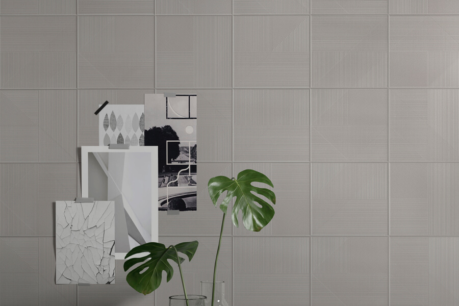 ceramic tile collection wall and