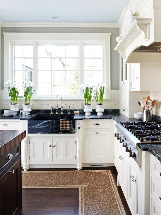 Pairing Dark Countertops With Light Cabinets For A ... on Black Countertops  id=77228
