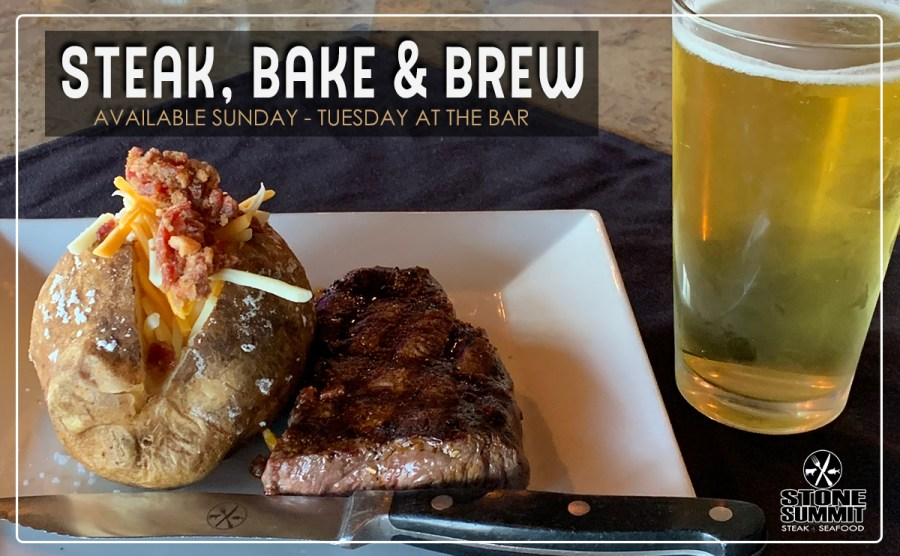 Steak, Bake, 'n Brew