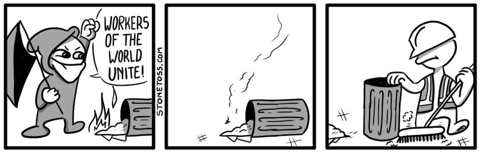 antifa trash comic