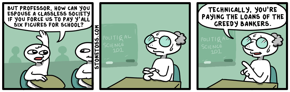 comic about the cost of education and student loans