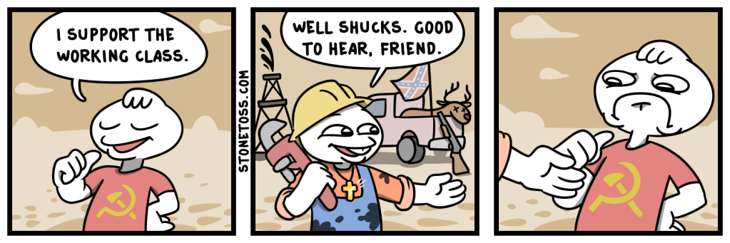 comic about communism betraying the working class
